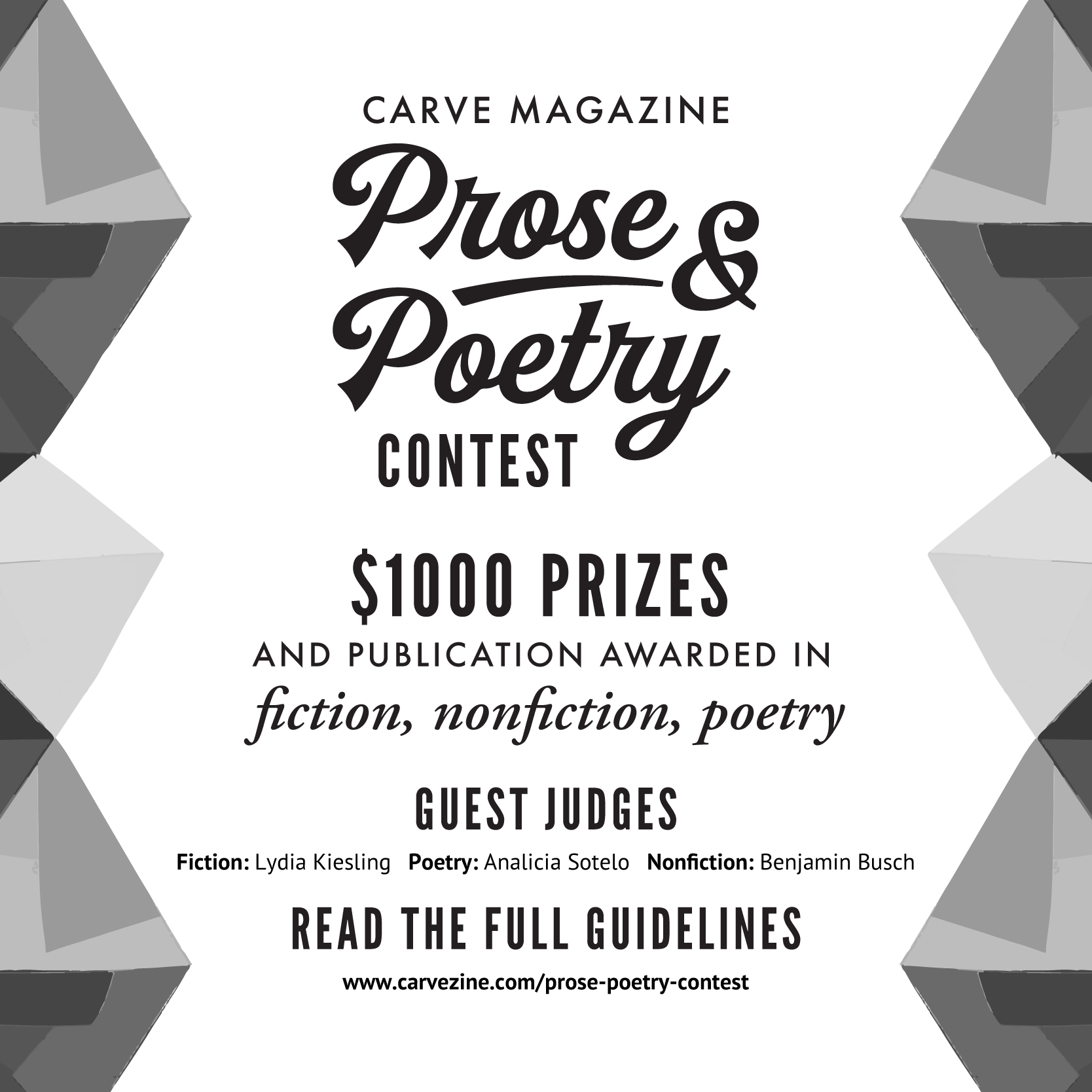 Carve Magazine Prose & Poetry Contest