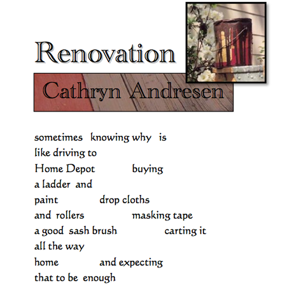 Renovation by Cathryn Andresen