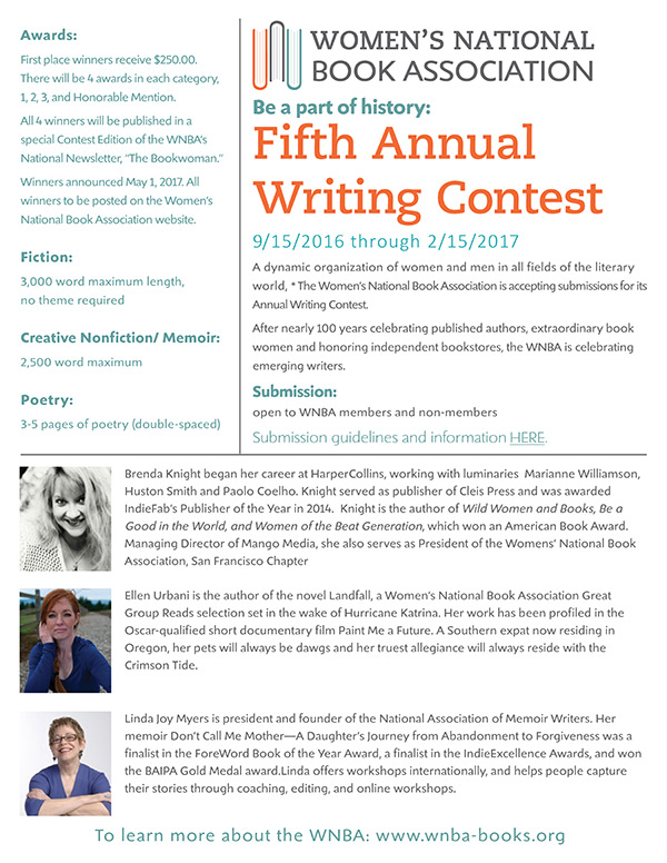 Women's National Book Association Fifth Annual Writing Contest