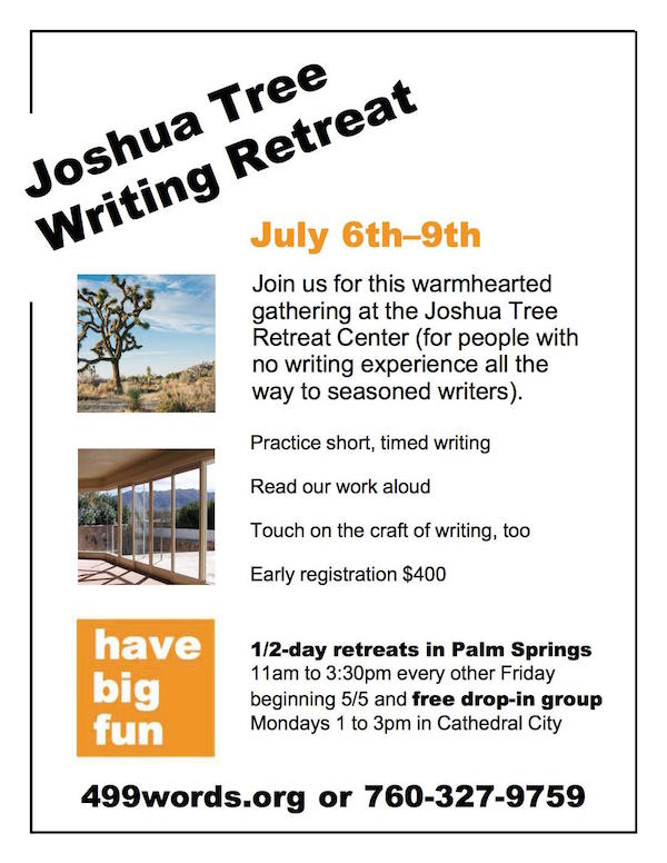 Joshua Tree Writing Retreat