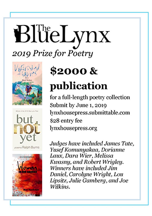 The Blue Lynx 2019 Prize for Poetry