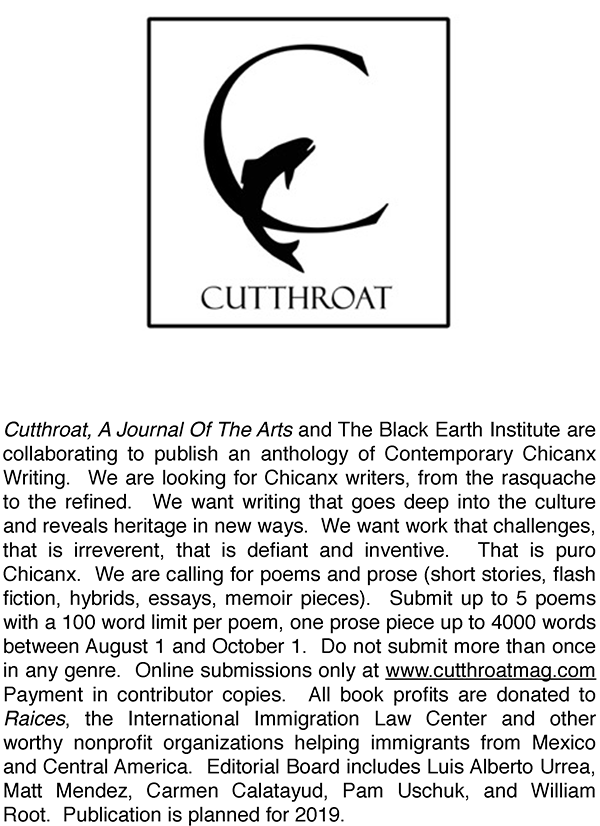 For this anthology we are looking for Chicanx writers