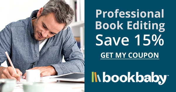 15% off professional book editing at BookBaby