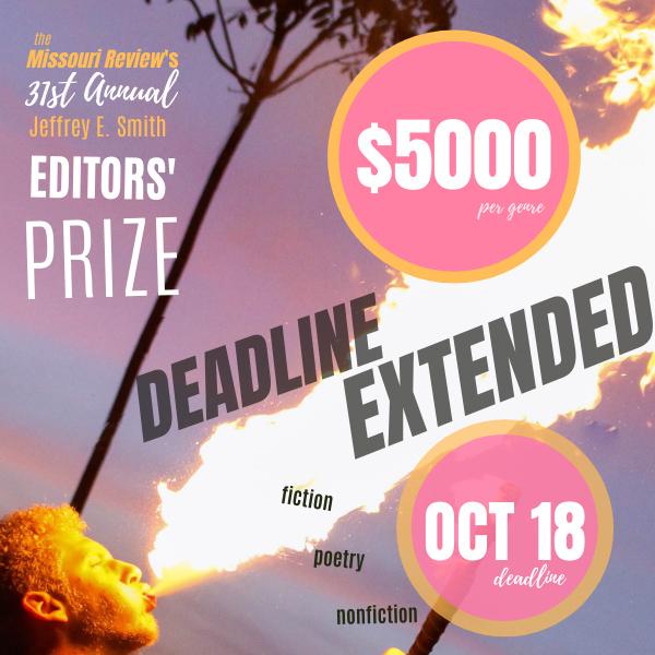 The Missouri Review's 31th Annual Editors'Prize