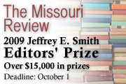 The Missouri Review's Jeffrey E. Smith Editors' Prize