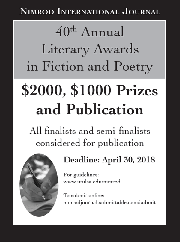 Nimrod International Journal's Literary Awards for Fiction ...