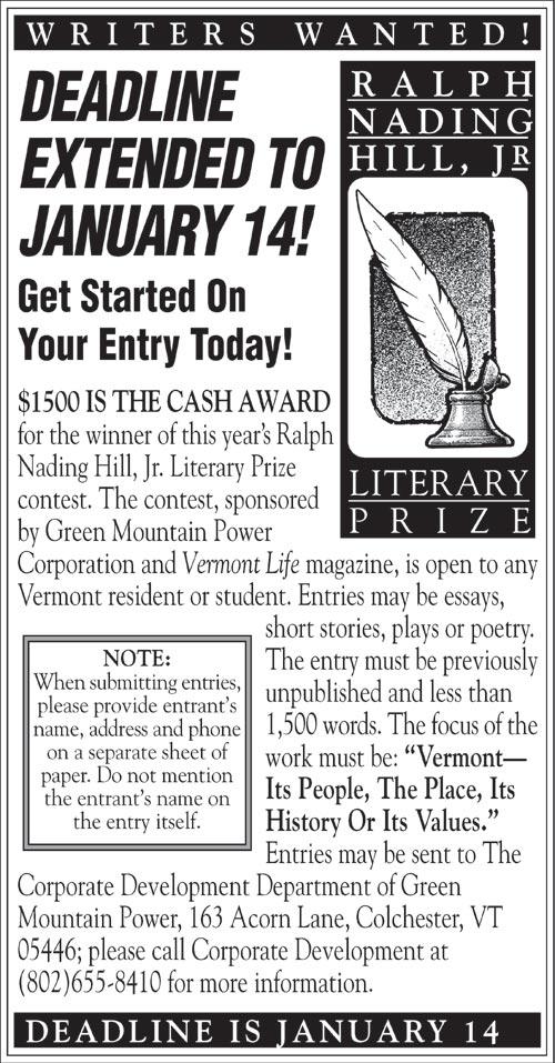 Ralph Nading Hill, Jr. Literary Prize