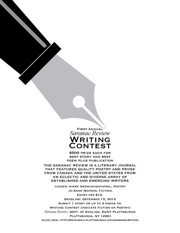 Saranac Review Writing Contest