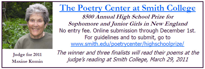 The Smith College Poetry Prize for High School Girls in New England