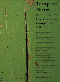 Templar Poetry Pamphlet & Collection Competition: 2008