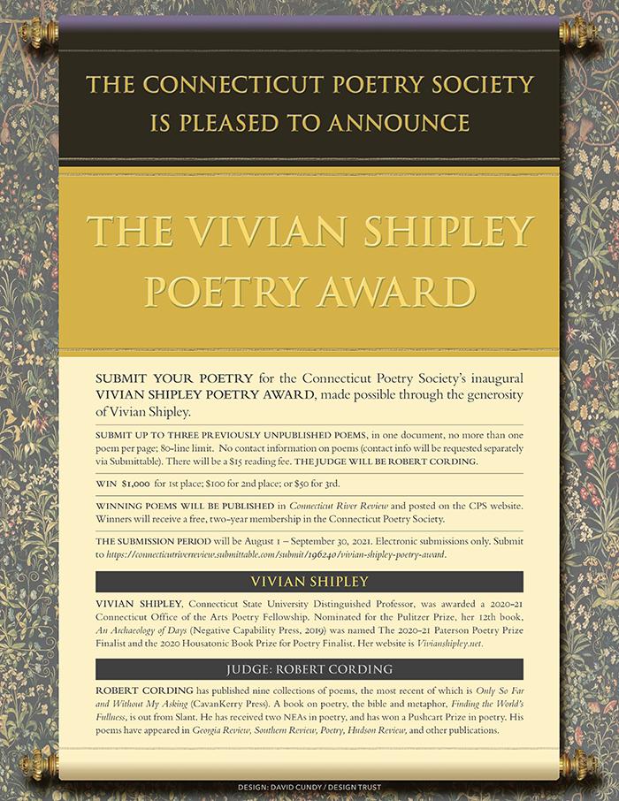 Vivian Shipley Poetry Award