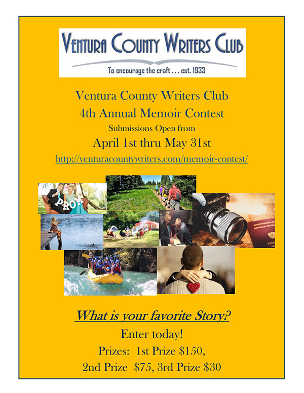Ventura County Writers Club - Memoir Contest