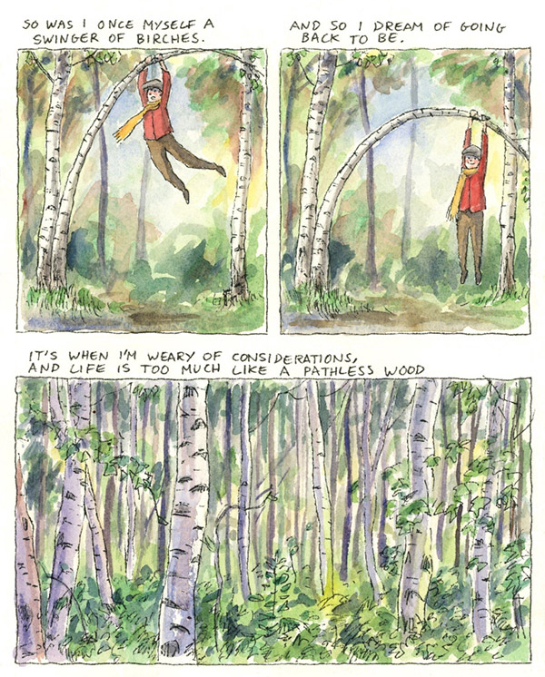 Birches, illustrated by Julian Peters