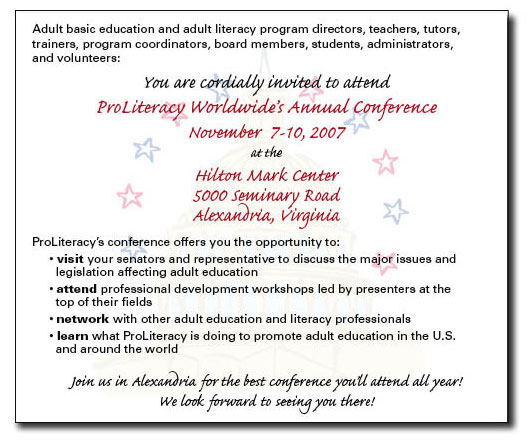 ProLiteracy Worldwide Annual Conference