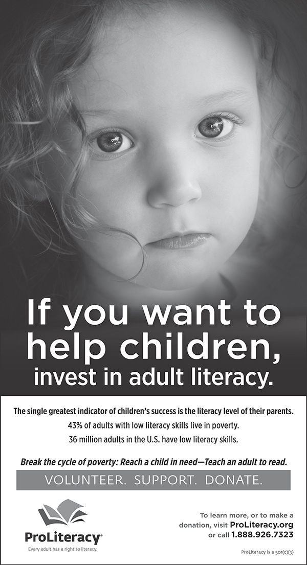 ProLiteracy -  Reach a child in need, teach an adult to read