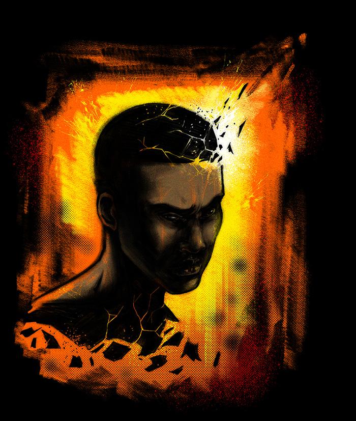 Illustration for Black Man by Anthony Pugh (1 of 2)