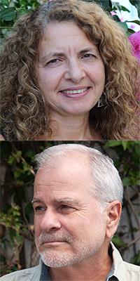 Lisa Suhair Majaj and Dave Edgerton