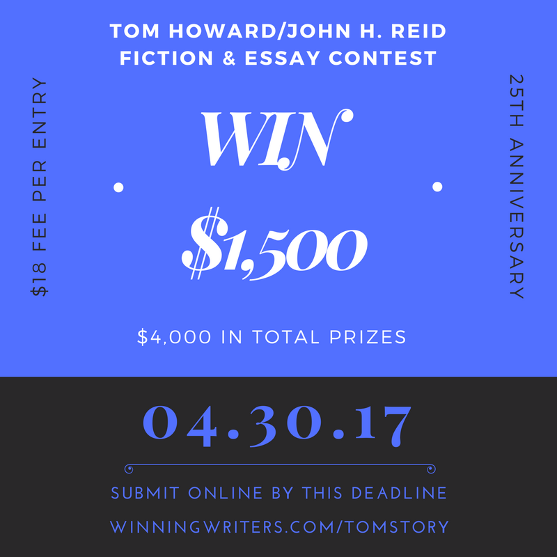 Enter our fiction and essay contest at winningwriters.com/tomstory
