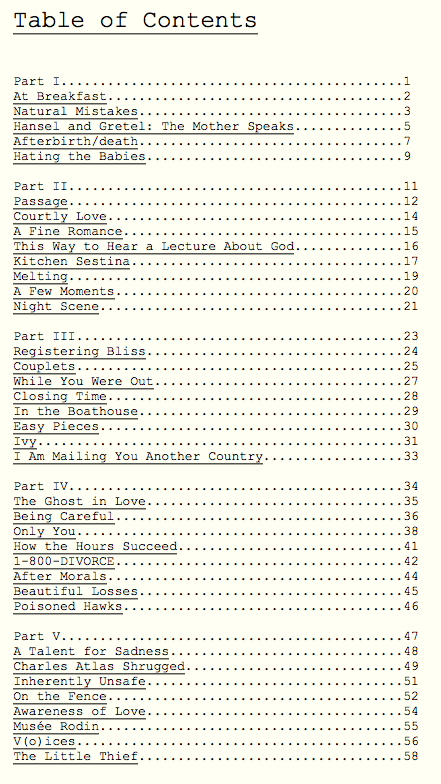 Manuscript tips winning writers for 101 great american poems table of contents