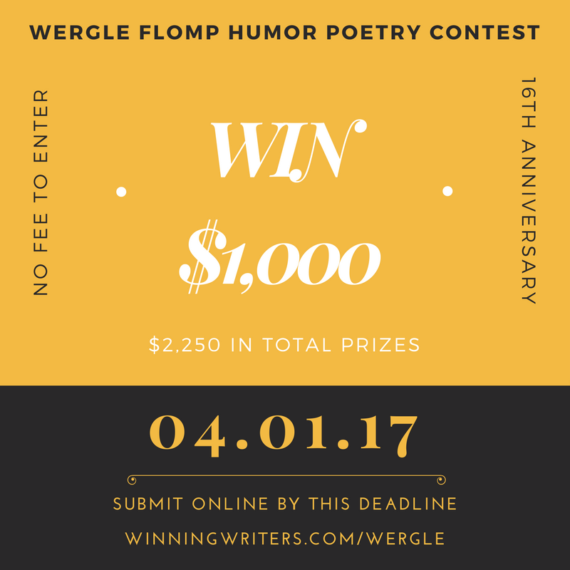 Enter our humor poetry contest at winningwriters.com/wergle